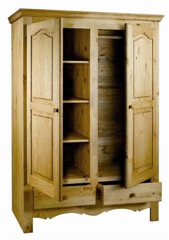 chambre armoires armoire 2 portes 2 tiroirs gamme. Black Bedroom Furniture Sets. Home Design Ideas