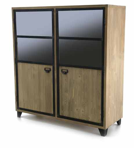 sejour meuble bas bahut 2 portes naturel gamme kobalt le magasin d 39 usine de meubles. Black Bedroom Furniture Sets. Home Design Ideas