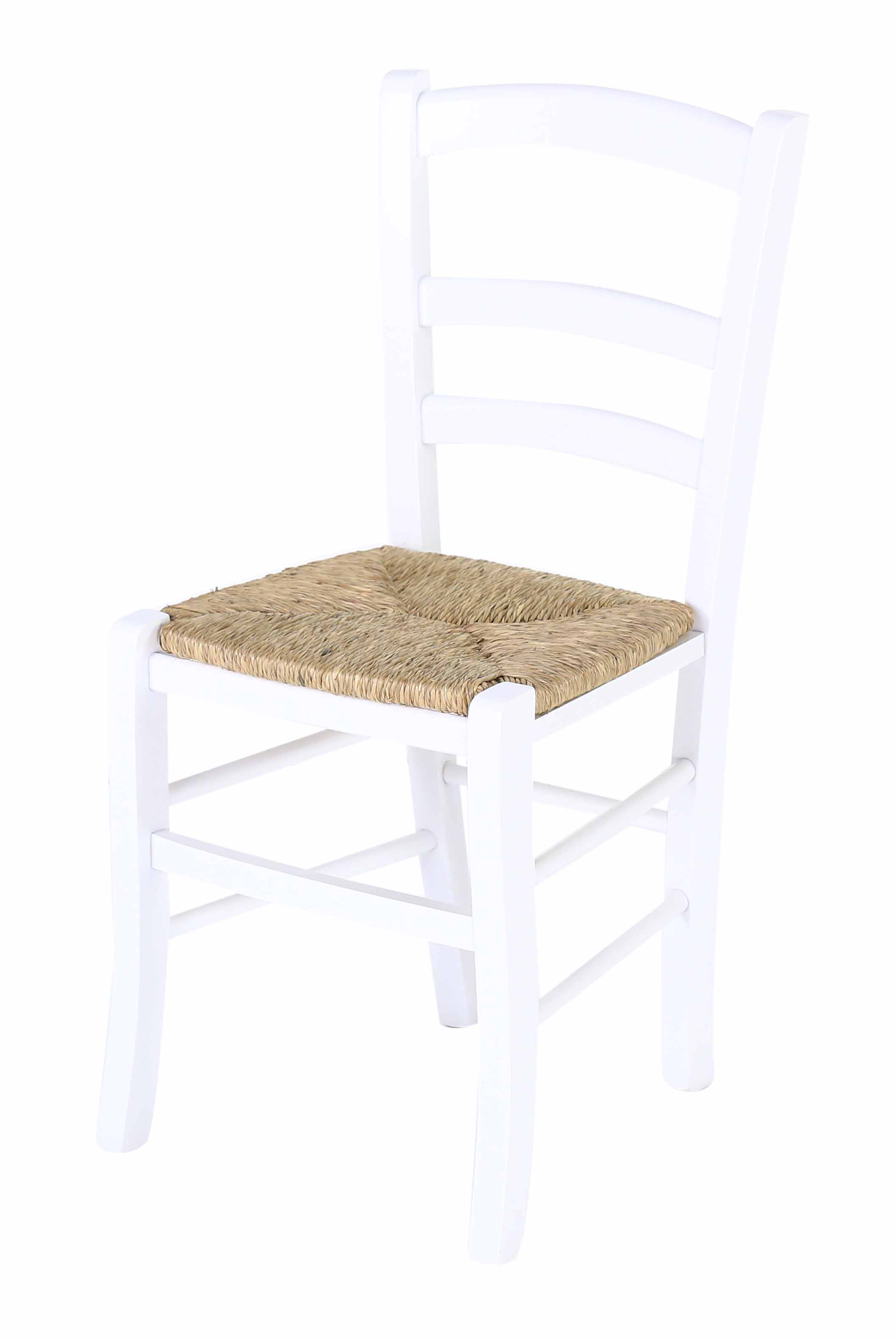 Chaise paille blanche maison design for Assise chaise paille