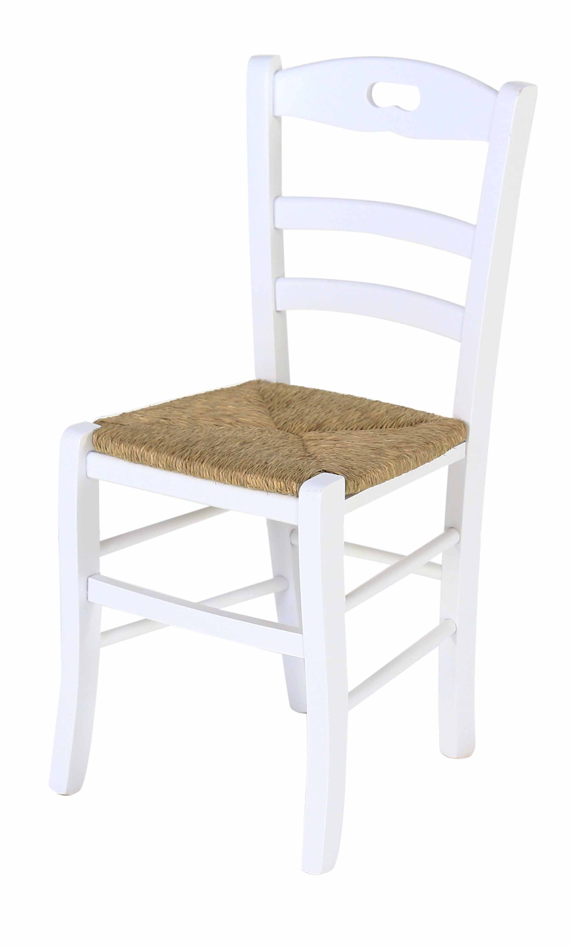 Coin repas chaises chaise h tre massif blanche assise paille vieugy le - Chaise paille blanche ...