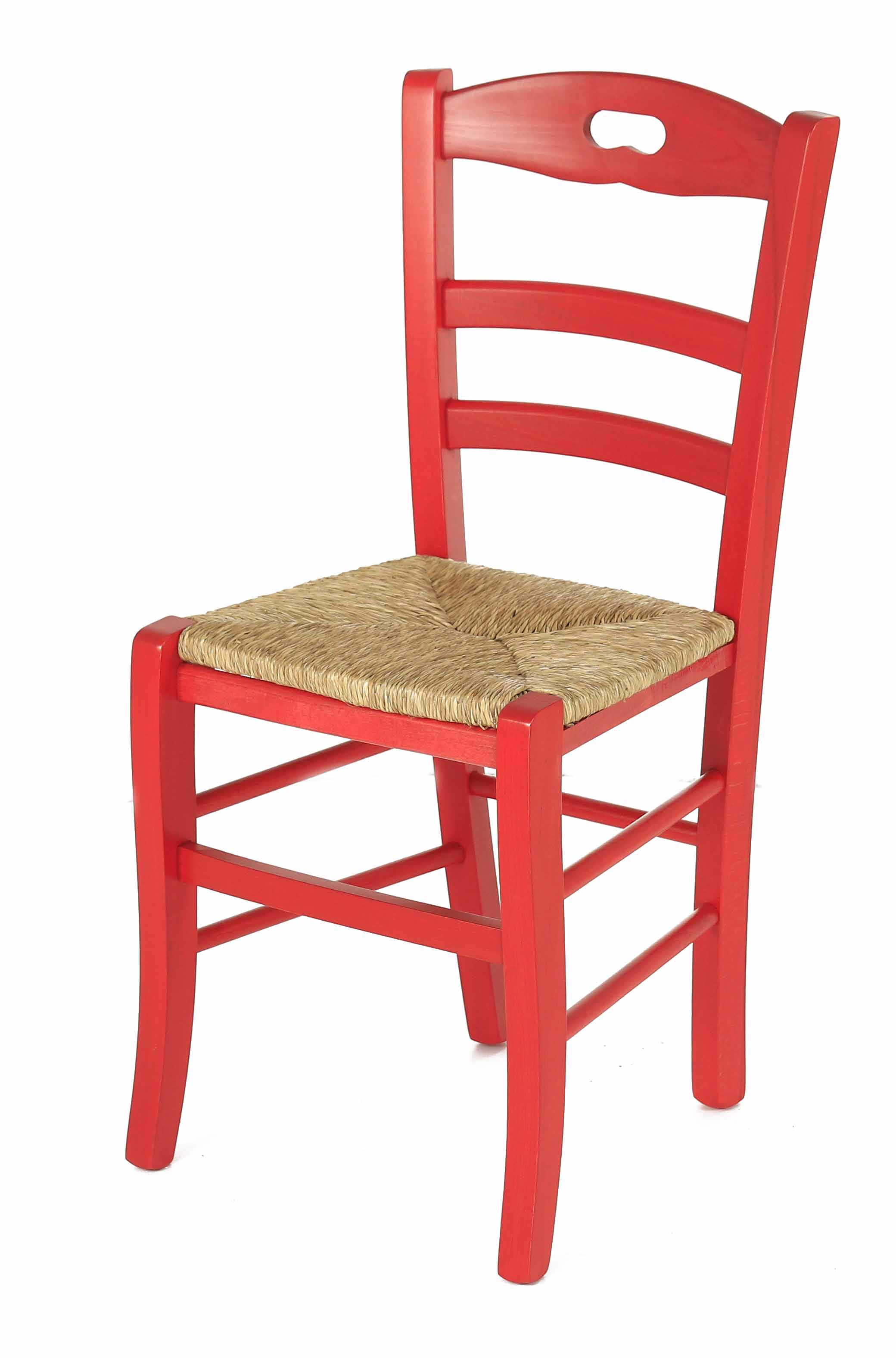 Coin repas chaises chaise h tre massif rouge assise for Assise chaise paille