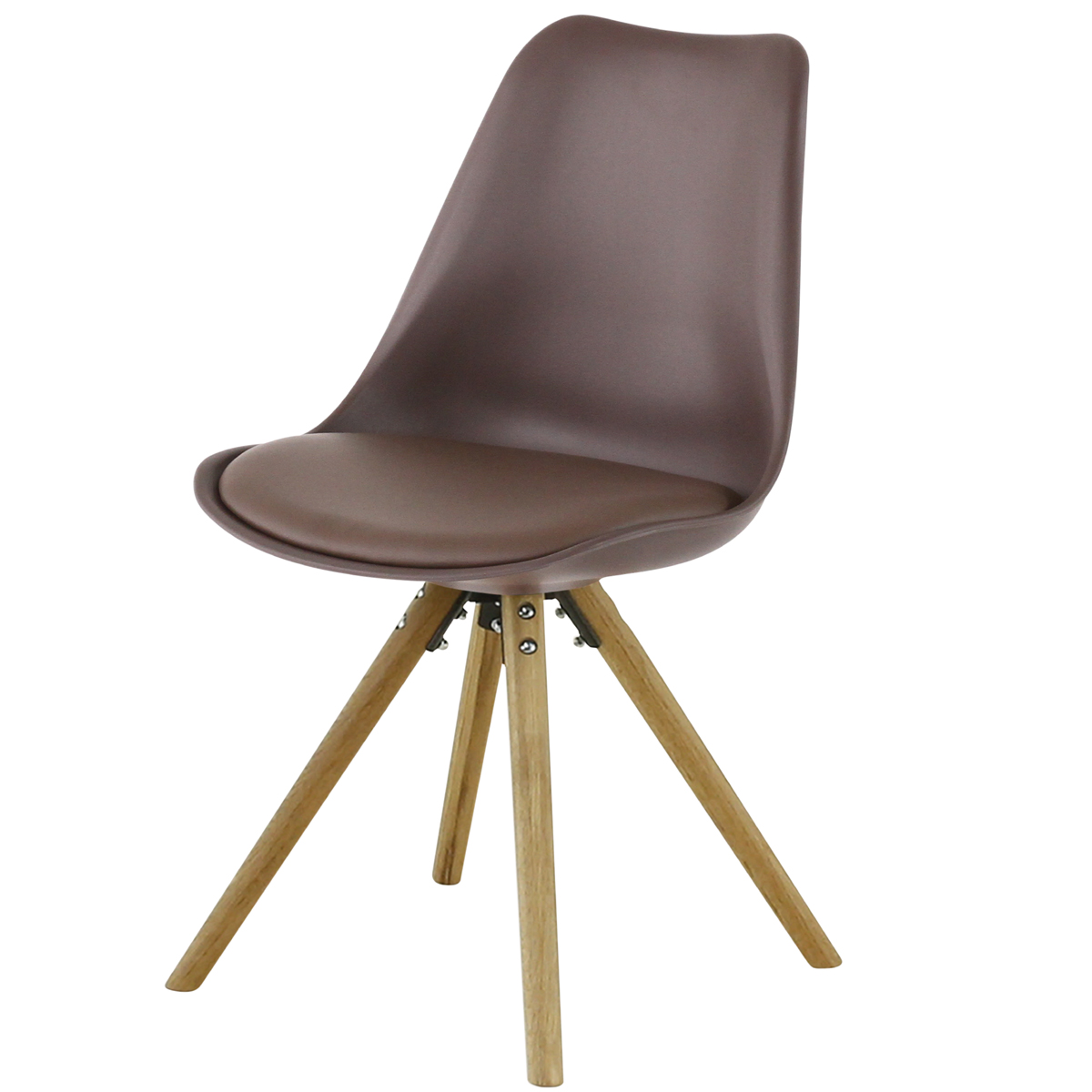 Chaise repas taupe Cross
