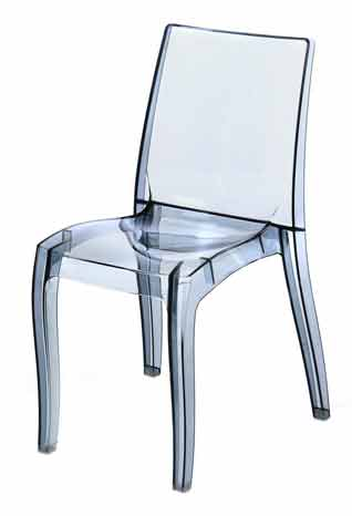 Chaise Repas Transparente Grise Gamme Frost