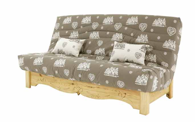 sejour canapes et sofas clic clac 140 cm courchevel taupe gamme aspin le magasin d 39 usine de. Black Bedroom Furniture Sets. Home Design Ideas