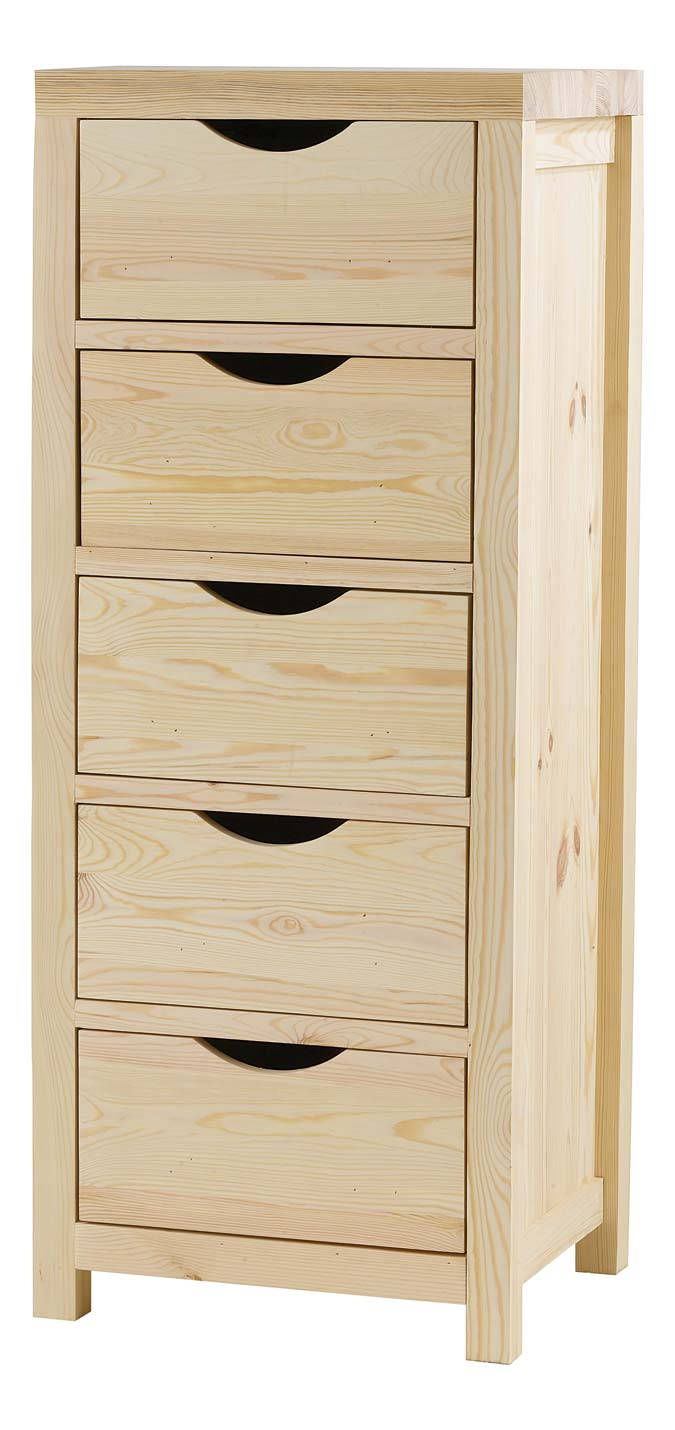 Commode 5 tiroirs gamme Lune