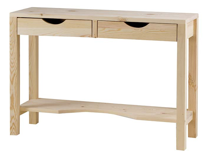 Console 2 tiroirs gamme Lune