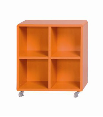 sejour meuble bas cube 4 cases orange le magasin d. Black Bedroom Furniture Sets. Home Design Ideas