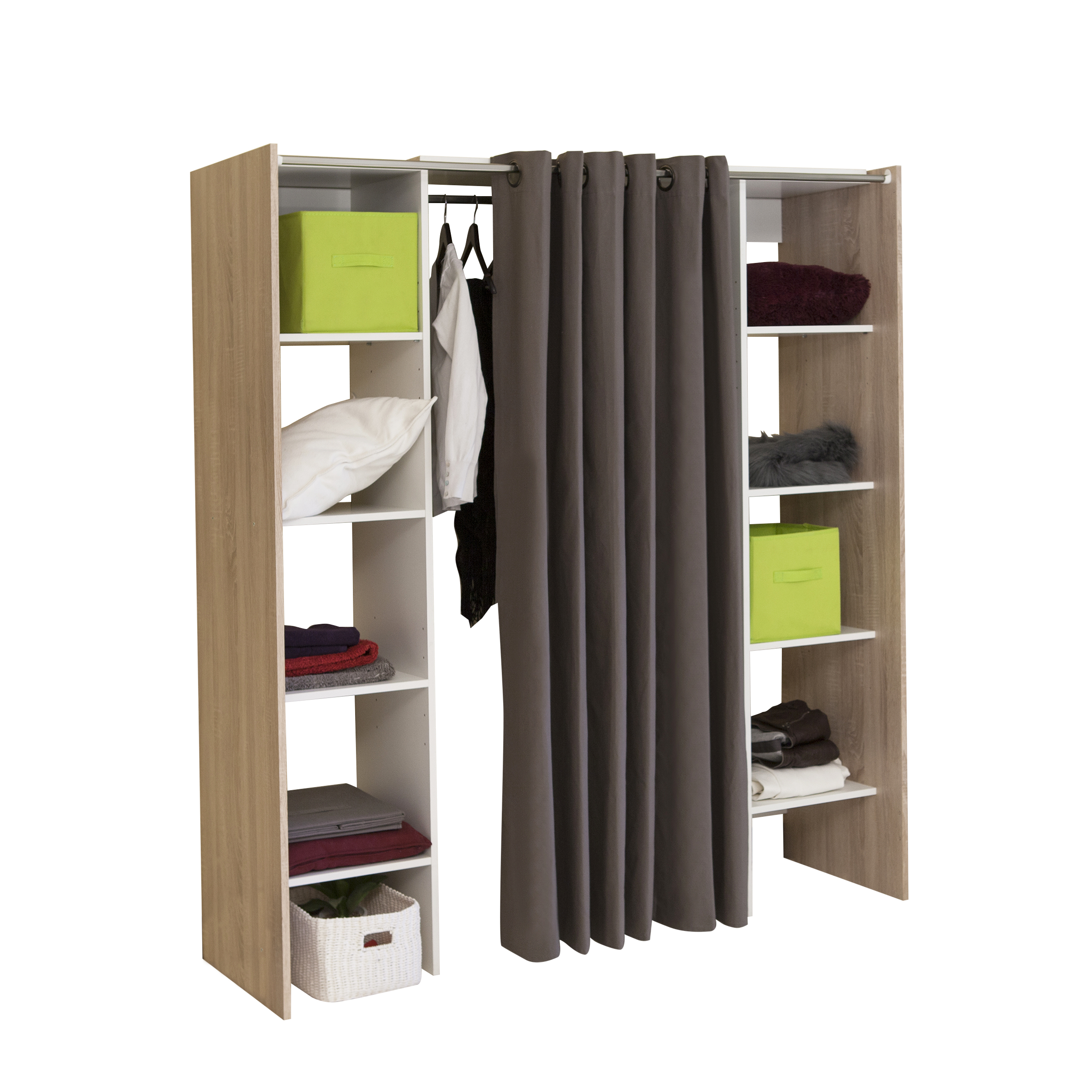 sejour meubles d appoint dressing extensible avec 2 colonnes gamme bardolino le magasin d. Black Bedroom Furniture Sets. Home Design Ideas