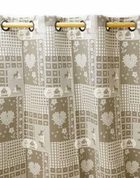 Rideaux Cervino Taupe gamme Aspin