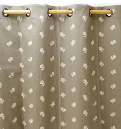 Rideaux Edelweiss Taupe gamme Aspin