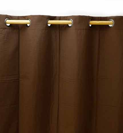 Rideaux Liso Chocolat gamme Aspin