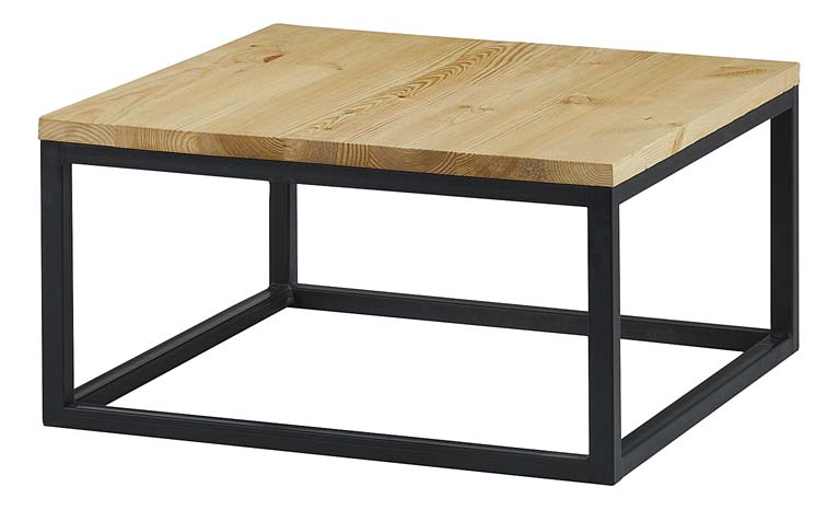 Sejour tables basse table basse city pin teint cir structure m tallique - Table basse metallique ...
