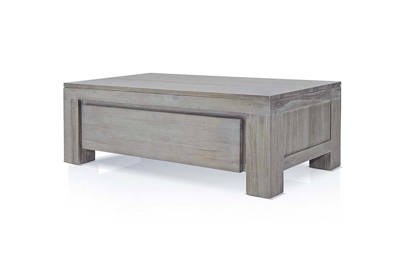 Table basse grise clair - Table basse chene clair massif ...