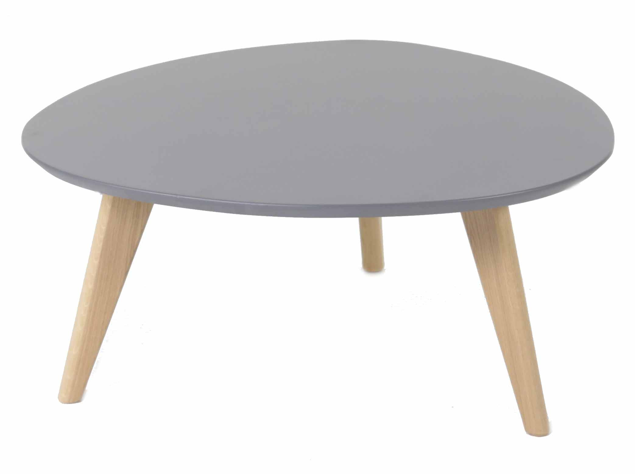 Sejour tables basse table basse ronde plateau gris for Table de sejour ronde