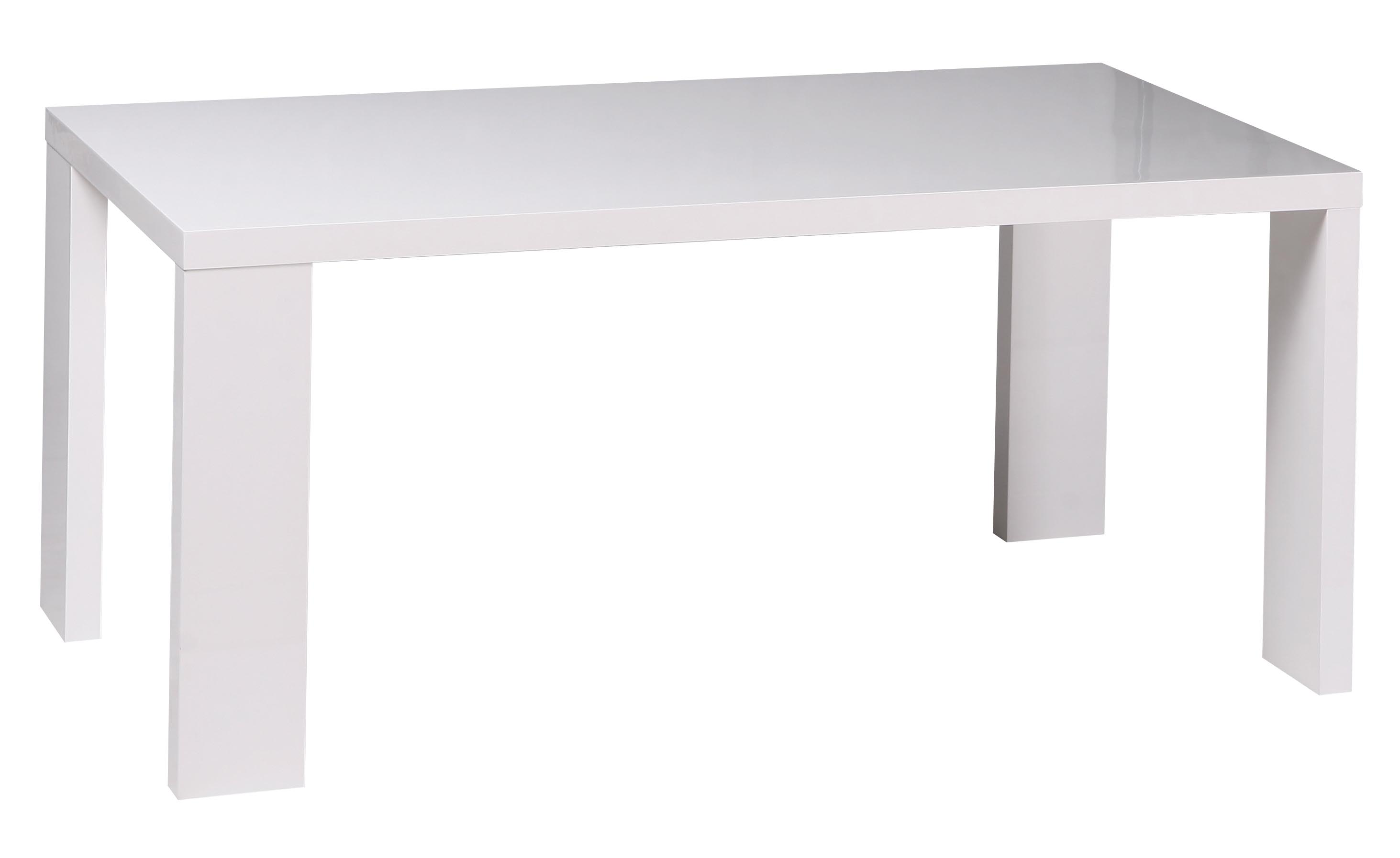Coin Repas Tables Repas Table Repas Rectangulaire 160 Cm Laqu Blanc L A Le Magasin D