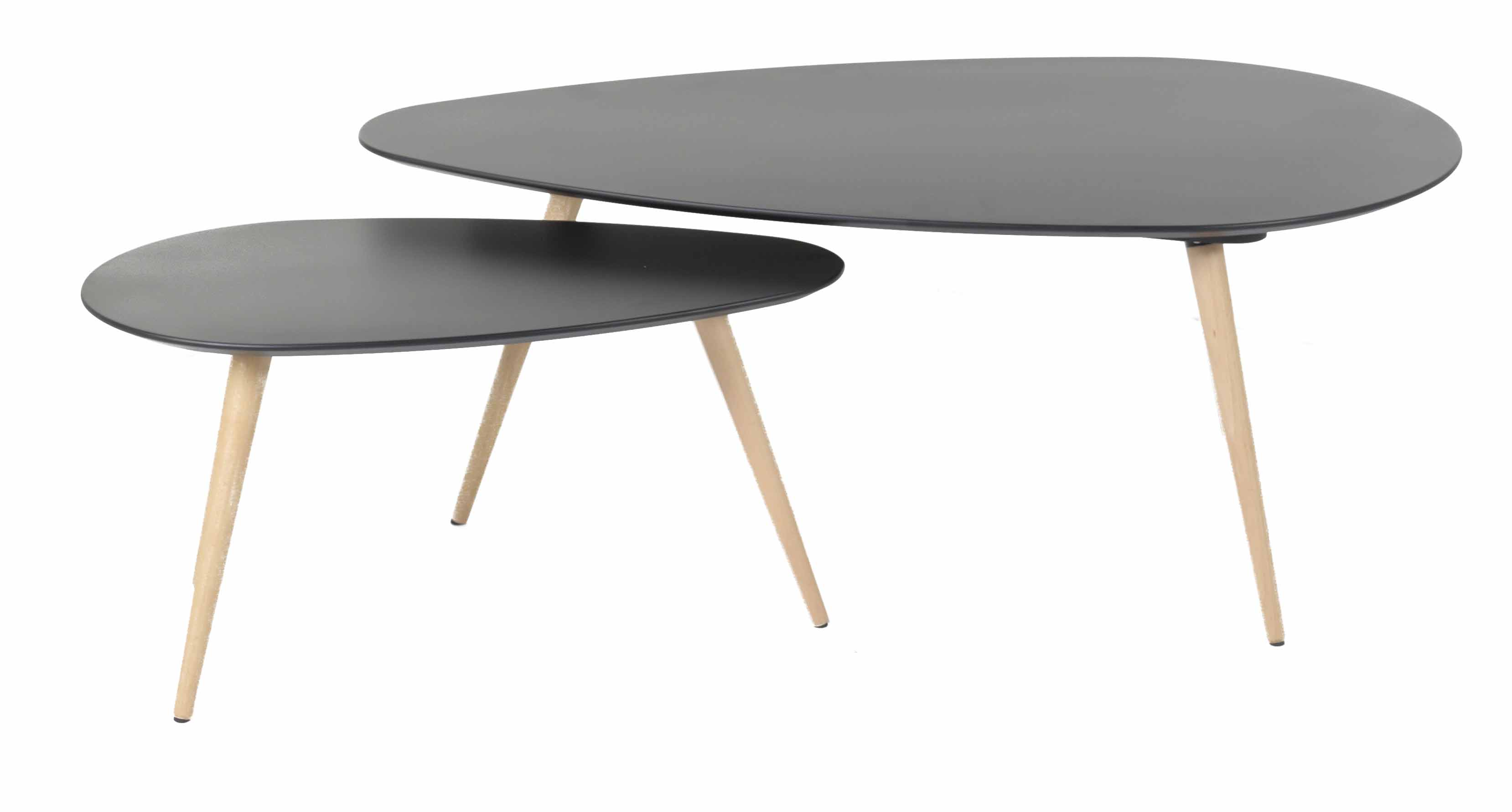 Table basse gigogne ovale images - Tables basses noires ...