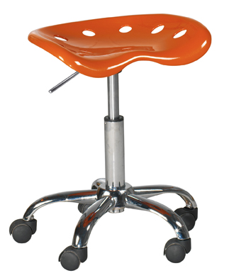 Tabouret de bureau orange Paris